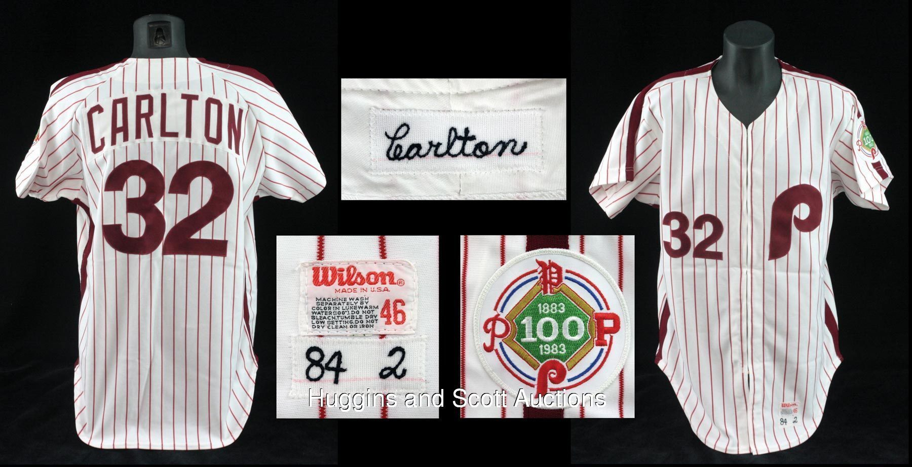 Steve Carlton 1983 Philadelphia Phillies Game-Worn World Series Home ... ee62141a527